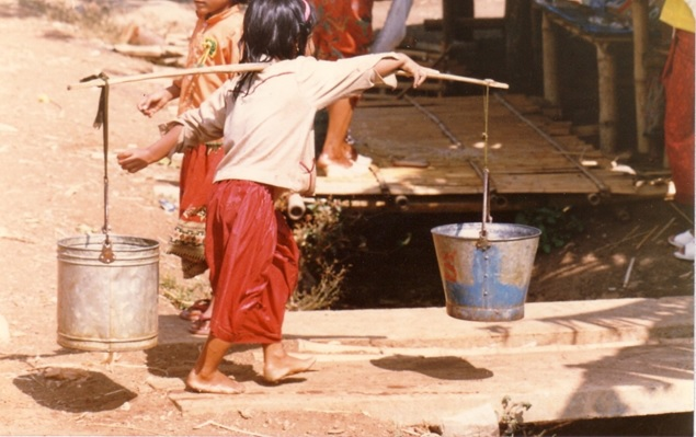 Collecting the day's water