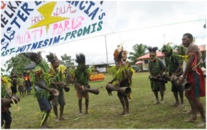 The Wati Parish Banner of Welcome and Entrance procession